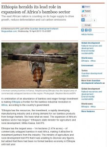 ethiopia expansion africa bamboo sector